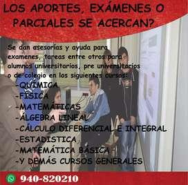 Se dan asesorías y ayuda para exámenes, tareas mediante WhatsApp.