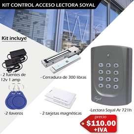 Cerraduras magnéticas – control de acceso lectora soyal – lector de huella – tarjetas magnéticas – controles