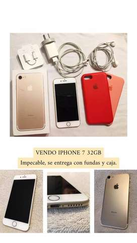 Vendo iPhone 7 Gold 32 GB- Impecable