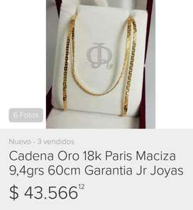 Cadena Oro 18k Paris Maciza