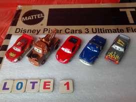Coleccion lote x 5 Autos Cars Disney Pixar Mattel Diecast Rayo mcqueen