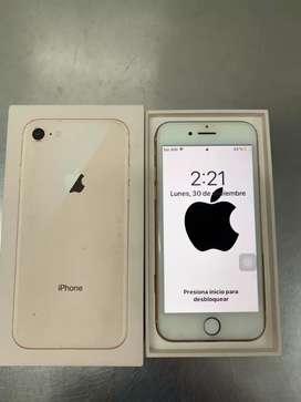 IPHONE 8 ORO ROSA COMO NUEVO EN CAJA