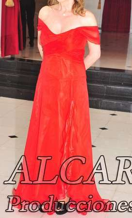 Vestido De Fiesta Rojo Largo