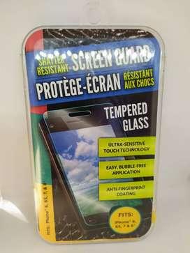 glass templado para iphone 6, 6S, 7 & 8