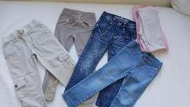 Pantalones niña talles 6 y 4