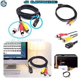 Cable Convertidor USB 2.0 a AV 3RCA 1mt & 1.5mts,  USB Conector Hembra a AV Macho