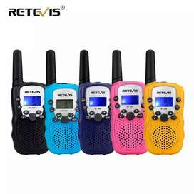 Walkie-Talkies.  Retevis  RT 388. 2 radios para niños y adultos activados por voz, 8 canales de comunicación. (pqt X 2)