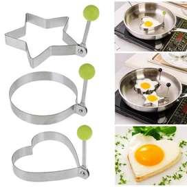 Moldes de huevo - Acero - Formas huevos fritos, Pancake Funny