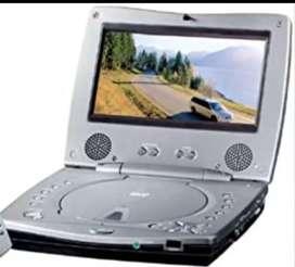 Dvd portátil con pantalla de 6 pulgadas