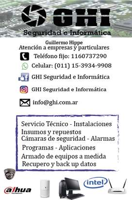 Ghi Seguridad e Informática Servicio Técnico Ventas Informática Quilmes