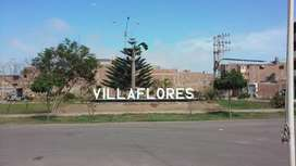 TERRENO de 120 m²frente al PARQUE saneado Urbanización cerrada Villaflores ideal construcción, venta o alquiler de depar