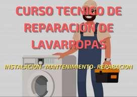 Curso de reparación de lavarropas.