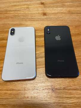 Vendo dos Iphone X 64 gb: uno blanco y uno negro