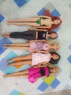 Lote x 5 Barbies