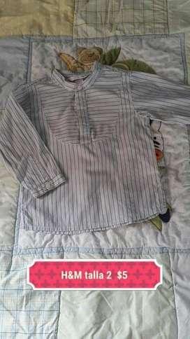 Camisa de Niño H&m Talla 2