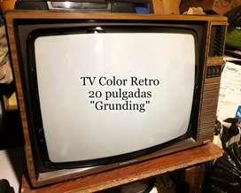 TV color retro 20pul gruding con teclas