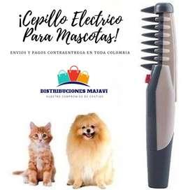 Cepillo Eléctrico Para Mascotas Desenrreda Peina Perros Gato