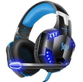 Audifonos profesionales para jugadores Gamers élite micrófono/luz led