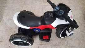 Moto PRINSEL electrica montable blanca y roja