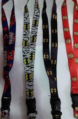 Lanyards de personajes Avenger, DC, Dragon Ball, Hello Kitty, Betty Boop, Los Simpson