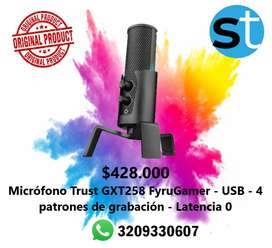 MICROFONO TRUST GXT258 FYRU GAMER USB 4 PATRONES DE GRABACION LACENTA 0