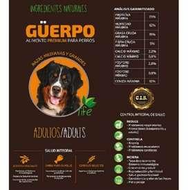 Alimento perro premiun life guerpo adulto 25kg