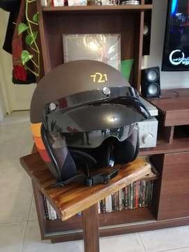 Casco para moto vintage