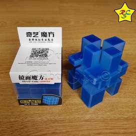 Mirror Qiyi Carbono Cubo Rubik 3x3 Speedcube - Azul Alumbra