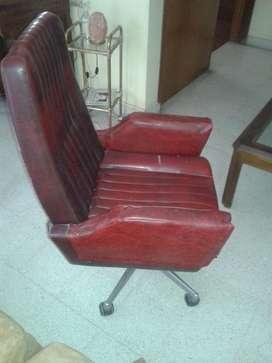 Sillon Ejecutivo de Oficina Patas Cromadas Vintage para tapizar