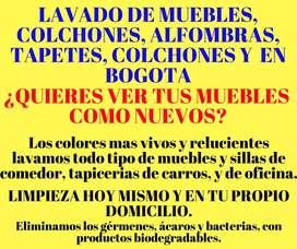 LAVADO DE MUEBLES COLCHONES EN BOGOTA