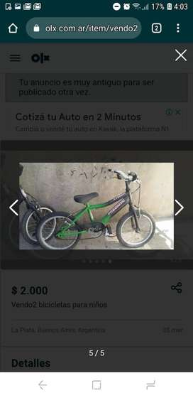 Bicicleta rodado 16 de niño