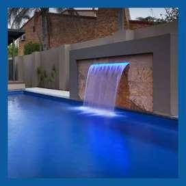 Cortinas de agua para piscinas y fuentes