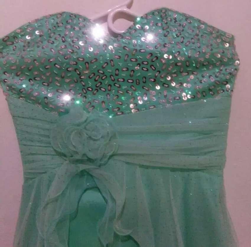 Vestido de coctel, verde menta, talla unica 0