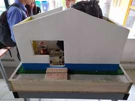Maqueta con materiales reales Sena para de arquitectura e ingeniería
