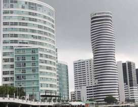 Alquiler oficina amoblada de 46 m. The Point, Puerto Santa Ana, Guayaquil