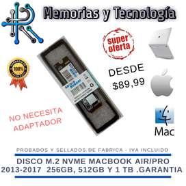 SSD M.2 para PC y Mac 256GB 512GB y 1TB