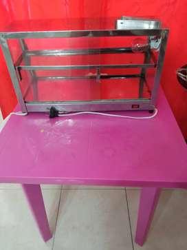 Vitrina calentadora con mesa incluida