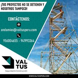 ALQUILER DE ANDAMIOS NORMADOS ILO-MOQUEGUA-AREQUIPA