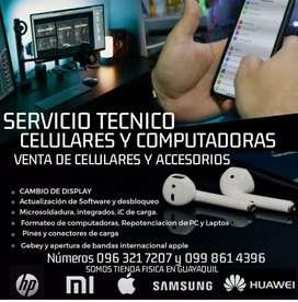 Servicio técnico celulares y computadoras