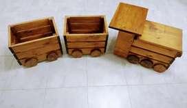 Tren de madera Jardinero