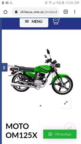Moto oromoto x 125 nueva de paquete