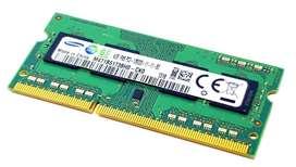 Memoria Ram 4gb Ddr3 Macbook o Laptos Windows Pc3l 12800s 1600 Mhz Samsung