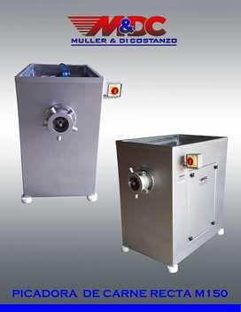 Picadora de Carne RECTA M150 - Acero Inoxidable - Metalurgica Muller y Di Costanzo