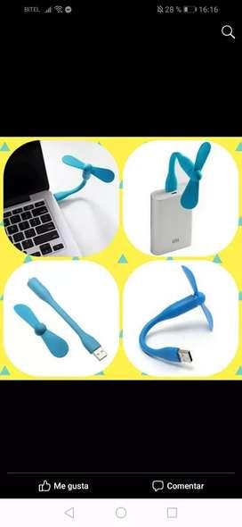 Mini ventiladores usb flexibles