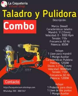 Combo de Taladro + Pulidora
