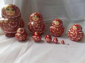 Muñeca Rusa Matrioshka Matryoshka Matruska Babuska Artesanía Rusia Montessori Regalo Ruso Hombre Mujer Adorno Hogar