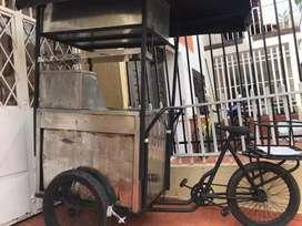 Triciclo para comidas rapidas