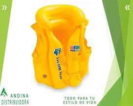 Chaleco Inflable De Seguridad Piscina 50x47 De 3 A 6 Años