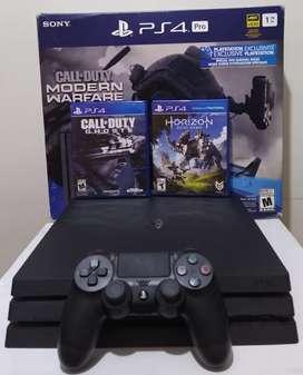PS4 Pro Segunda Generación + 2 Juegos Físicos