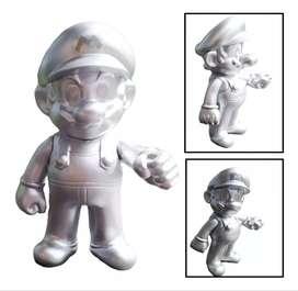 Figura Mario Bros Colección Mario Plateado Juguete Figuras
